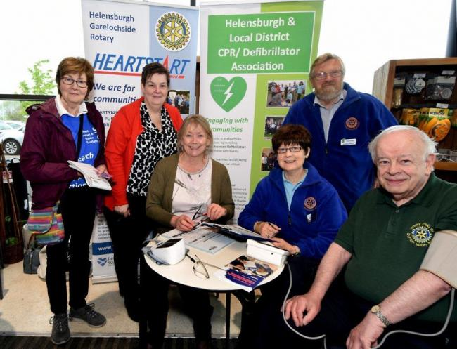 The 'Know Your Blood Pressure' team at Helensburgh's Waitrose supermarket
