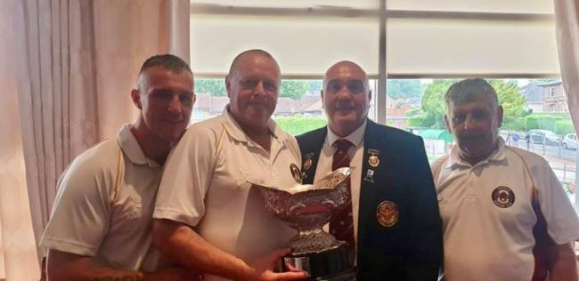 Paul Cavana, Charlie McKell, Robert Cavana and Michael Harrison won the Dunbartonshire Bowling Association's fours title after beating host club Dalmuir in Saturday's final