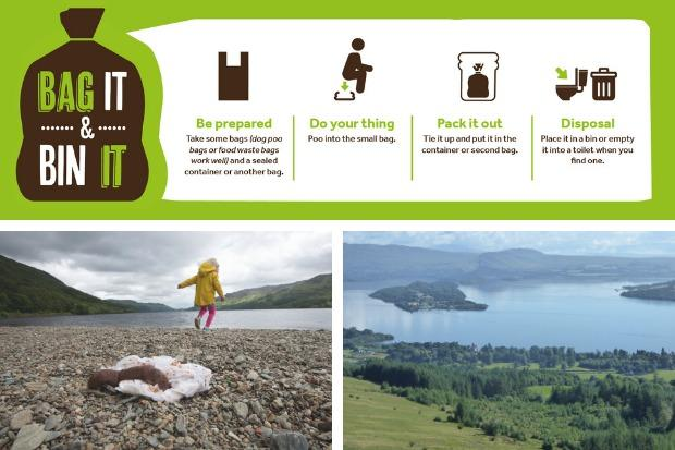 The new campaign aims to cut down on the amount of human waste dumped in the National Park