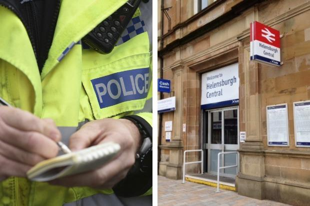 The incident happened near Helensburgh Central railway station