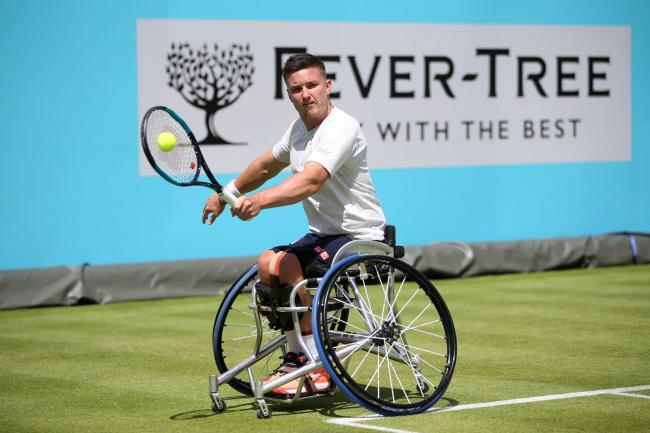 Gordon Reid will face top seed Shingo Kunieda in the singles quarter-finals at Wimbledon (Photo by Alex Morton/Getty Images)