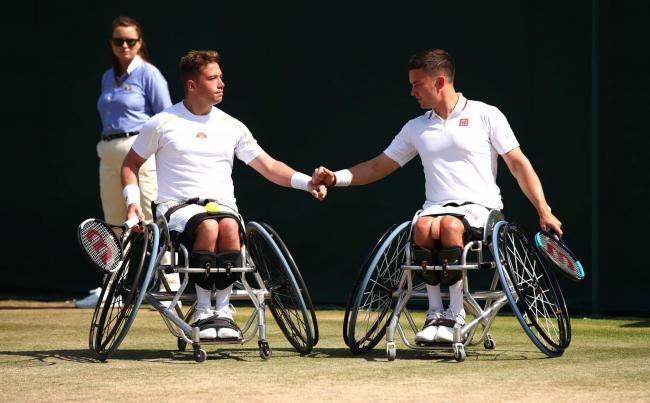 Alfie Hewett and Gordon Reid missed out on a fourth straight Wimbledon doubles title
