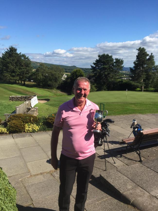 Dougie Singleton triumphed in the Midway Open gents' singles stableford tournament at Helensburgh on Sunday