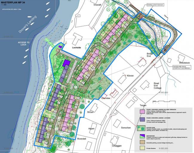 An outline plan of proposals to develop the site at Portincaple, on the east shore of Loch Long, has been published on Argyll and Bute Council's website