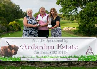 Helensburgh Golf Club ladies' tri-am winners Babs Robertson, Gail Waddell and June Haggarty
