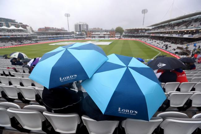 Morning downpours led a to a delay at Lord's