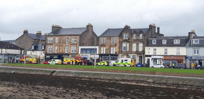Emergency services were called to a report of a fire at a restaurant in West Clyde Street on Monday morning (Photo - Kevin Mullen)