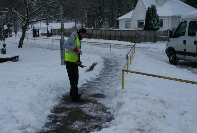 Councillors were told of a plan to seek community volunteers to grit Argyll and Bute's pavements during cold snaps this winter