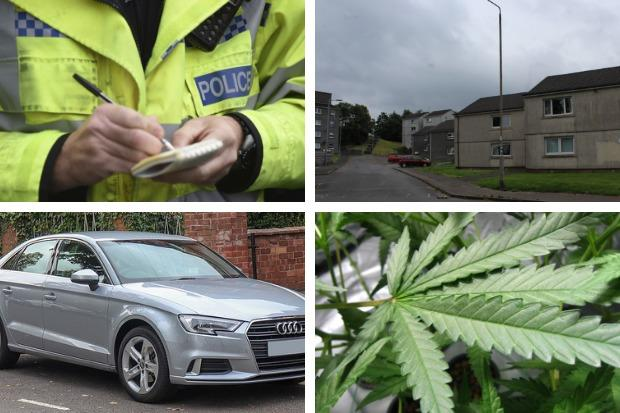 Two men were arrested by police following drug searches in Shandon and Helensburgh