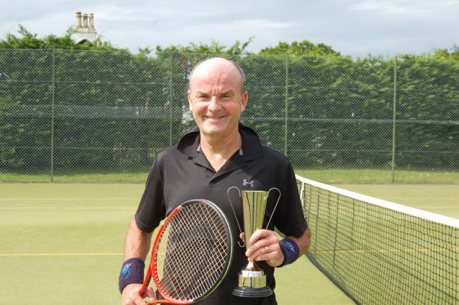 Helensburgh Tennis Club's men's over-40 singles champion Alastair Hope