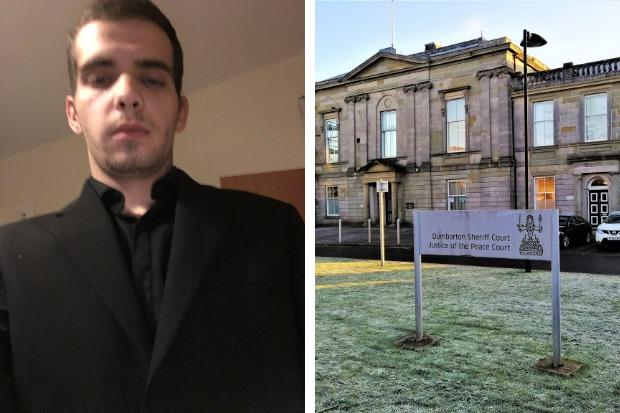 Kyle McCreadie appeared at Dumbarton Sheriff Court on August 28 after pleading guilty to threatening or abusive behaviour towards a former partner at a property in Rosneath