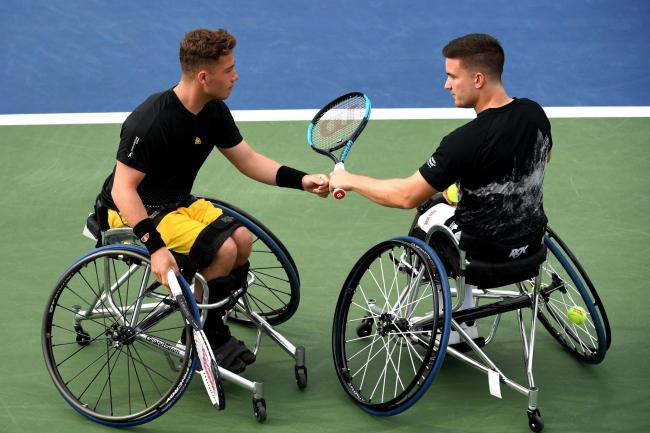 Gordon Reid (right) and Alfie Hewett won their third US Open wheelchair doubles title in a row last September - and will have a chance to secure victory in New York for a fourth year running after the tournament organisers backtracked on plans not to hold