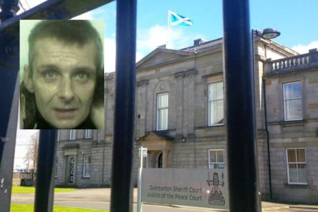 James Jeffrey was jailed for 12 months at Dumbarton Sheriff Court on September 13