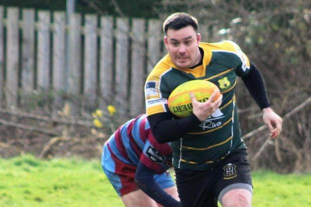 Phil Ard scored one of Helensburgh's two tries away to Strathaven on Saturday
