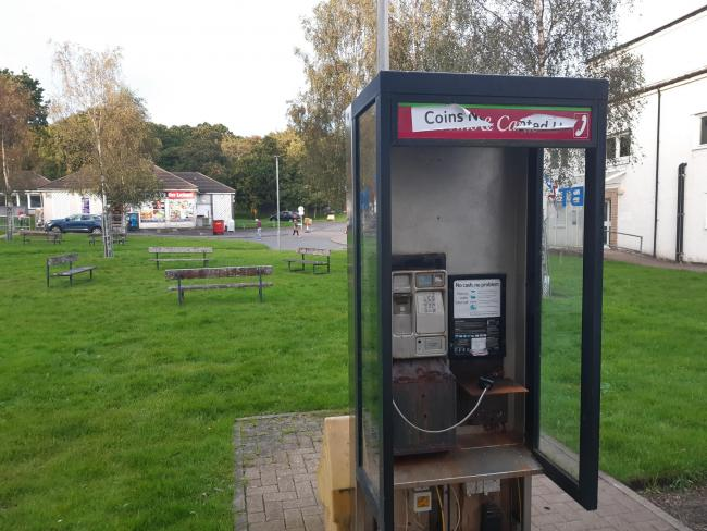 This phone box in Churchill Square, Helensburgh has been earmarked for removal after usage data revealed no calls had been made from it in the 12 months to June of this year