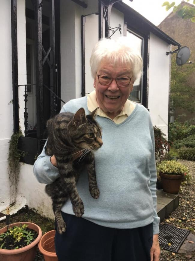 George the cat was reunited with his owners in Helensburgh after straying 14 miles from home