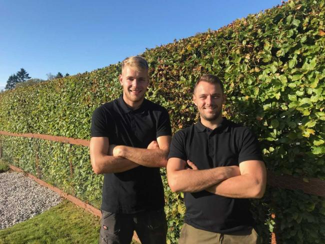 Kieran Spence and Russel Jarvis of R&R Landscapes