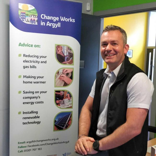 Jamie Proudfoot, Change Works in Argyll senior project officer