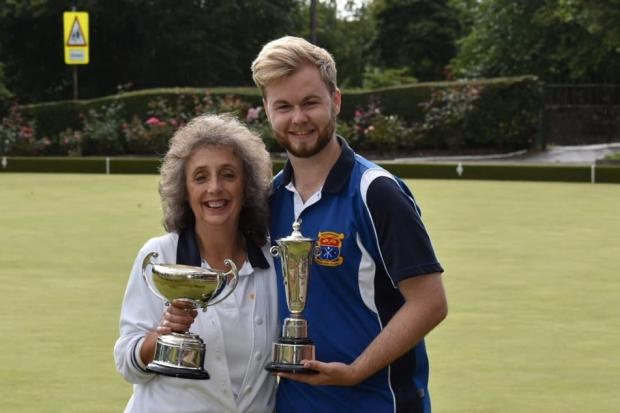Helensburgh Bowling Club's 2019 ladies and gents' champions, Jill Dacombe and Alan Air