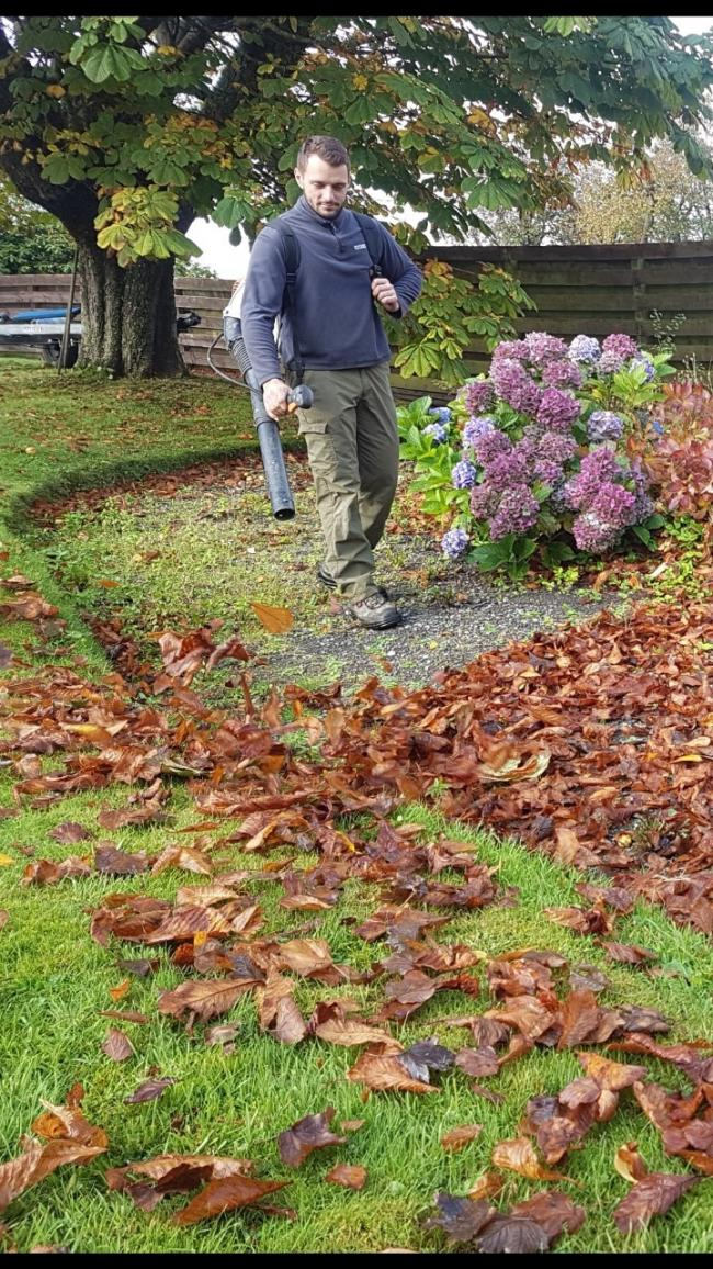Leaf blowers are ideal for clearing dry leaves this autumn - but are only of limited use when trying to tackle heaps of damp leaves