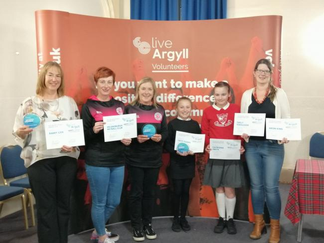 LiveArgyll's sport award winners from Helensburgh and Lomond received their certificates at a ceremony in the Victoria Halls