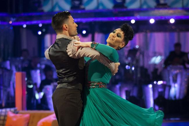Giovanni Pernice and Michelle Visage on Strictly Come Dancing
