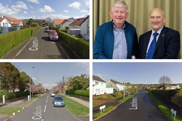 Sandy Kerr helped shed light on the stories behind many of Helensburgh's street names at the latest meeting of the town's Heritage Trust - pictured in this view are Courtrai Avenue, Colquhoun Street and Lochranza Drive