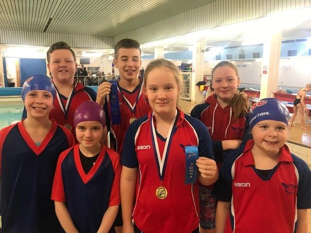 The Helensburgh ASC team who took part in the Kingston Sprints event at Larkhall Leisure Centre