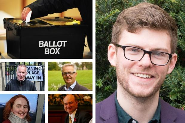 Allan Faulds (right), from Ballot Box Scotland, has cast his expert eye over the fight for Argyll and Bute's votes on December 12 - the candidates (bottom left, clockwise) are Gary Mulvaney for the Conservatives, the SNP's Brendan O'Hara, Alan