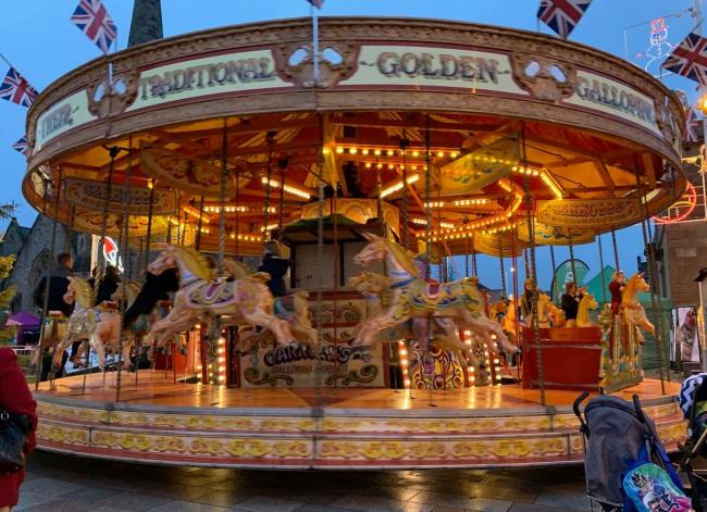 This traditional golden carousel will not appear at the Helensburgh Winter Festival this weekend due to a broken driveshaft