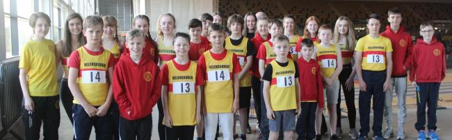 Thirty-five young members of Helensburgh AAC took part in the second Scottish Athletics Indoor League match of the season at the Emirates Arena in Glasgow