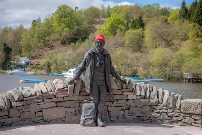 The statue of Tom Weir at Balmaha (Photo - Paul Saunders Photography)