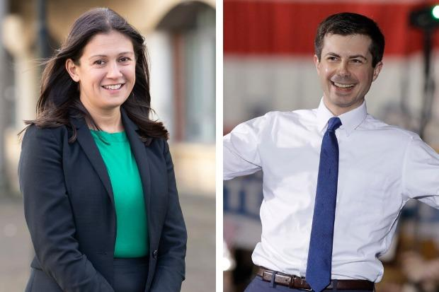 Lisa Nandy is one of six Labour MPs to have entered the party's leadership race, while Pete Buttigieg is among the hopefuls vying to be the Democrats' candidate in the US presidential election