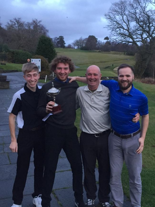 Cross country scramble winners Dom Taylor, Shey Donald, Alan Blackstock and Graham Crowhurst