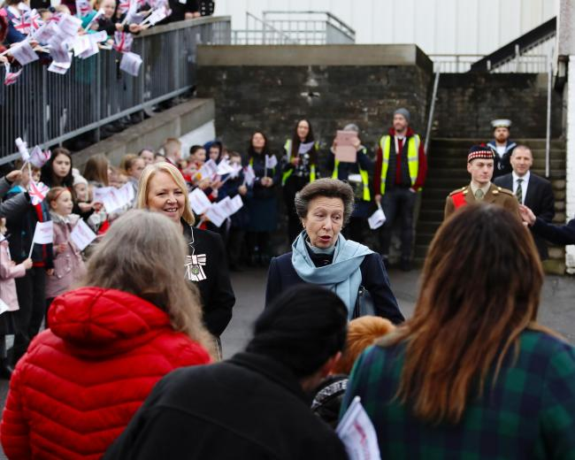 The Princess Royal visited Helensburgh on Friday