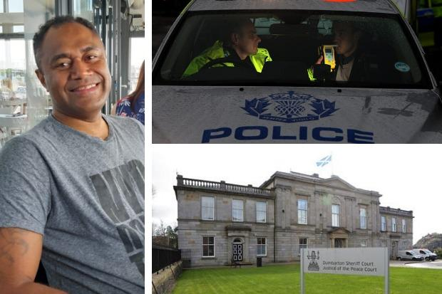 Ratu Ralawa was sentenced for drink-driving at Dumbarton Sheriff Court on January 31