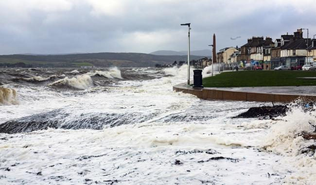 Storm Ciara battered Helensburgh with strong winds, high tides and large waves on Sunday - and Storm Dennis is expected to bring more of the same to large parts of the UK this weekend (Photo - Tom Watt)