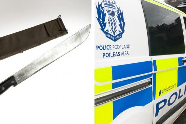 The alleged machete attack took place in West Princes Street