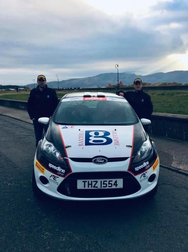 Fraser Anderson drove his Matt Edwards Rallying Ford Fiesta R2 for the first time in anger at Saturday's Cambrian Rally