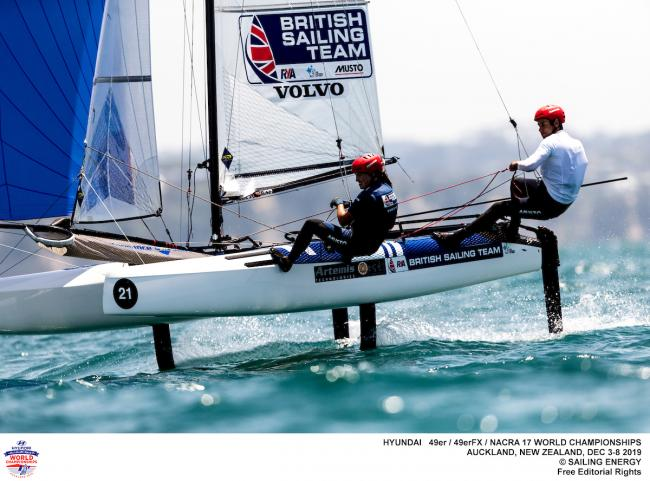 Anna Burnet and John Gimson will represent Team GB in the Nacra 17 class at the Tokyo Olympics (Photo - Pedro Martinez)