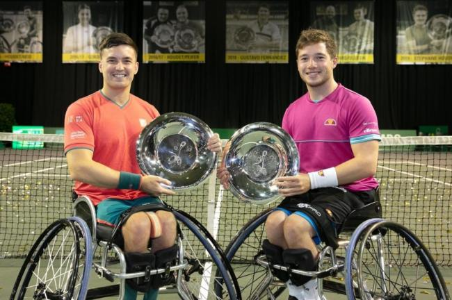 Gordon Reid and Alfie Hewett - winners of a fourth doubles title in a row after their triumph in Rotterdam on Friday