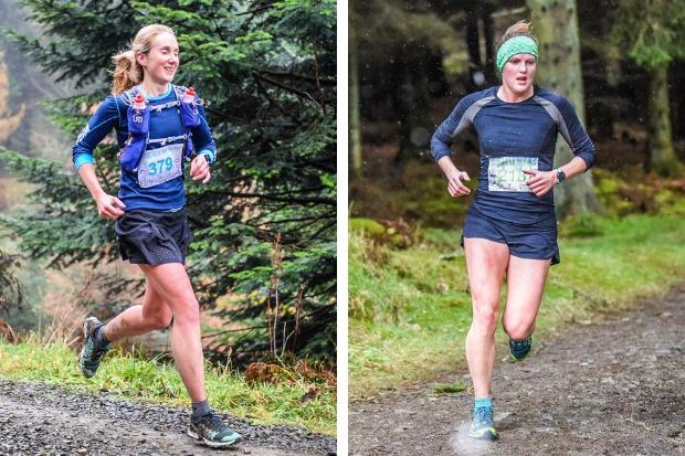 Laura Johnstone (left) and Helen Leigh in action for Helensburgh AAC in the Glentress Trail Races (Photos courtesy of Fiona Baird)