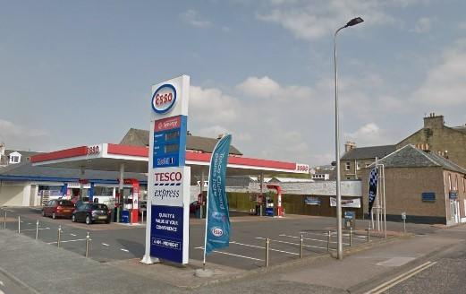 The Esso filling station on the corner of George Street and East Clyde Street (Photo - Street View)
