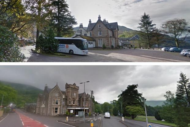 Specialist Leisure Group, which operated the Claymore Hotel in Arrochar (top) and the nearby Tarbet Hotel, collapsed into administration on Friday
