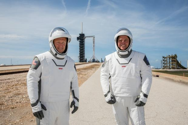 Helensburgh Advertiser: Astronauts Robert Behnken (right) and Douglas Hurley