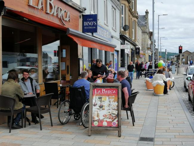Open-air eating and drinking has been allowed in Scotland since July 6 - but restaurants, cafes and pubs will be able to open indoor seating areas from July 15, subject to social distancing and hygiene measures being in place