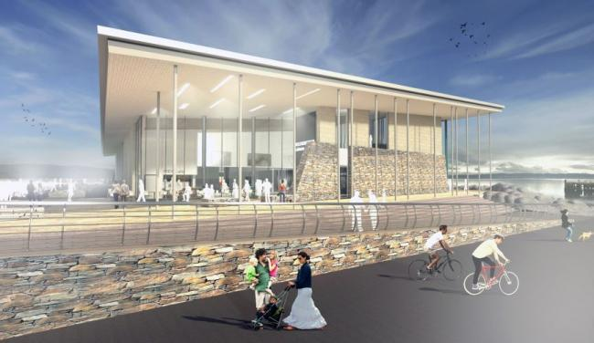 Helensburgh's new waterfront leisure centre and swimming pool is expected to open in the summer of 2022