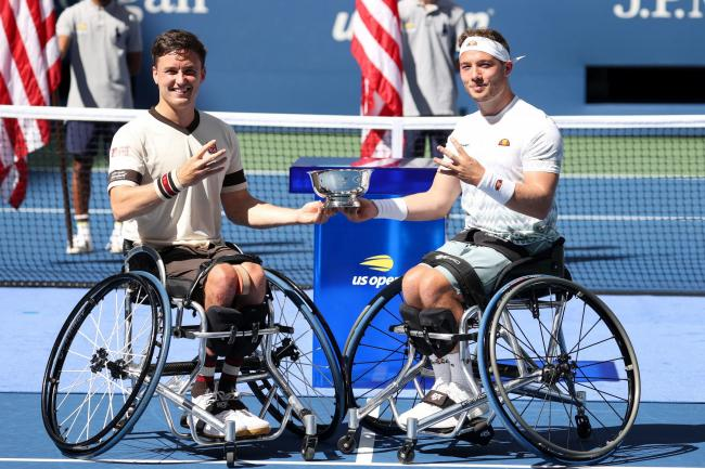 Gordon Reid and Alfie Hewett won their fourth US Open wheelchair doubles title together - and Reid's fifth Flushing Meadows doubles crown overall - with victory over France's Stephane Houdet and Nicolas Peifer (Photo - LTA)