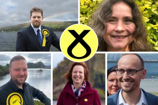 Helensburgh councillor Lorna Douglas (top right) has joined a five-way tussle to be named the SNP's candidate for the Dumbarton constituency seat at next year's Scottish Parliament elections