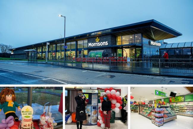 Morrisons in Cardross Road opened its doors for the first time on Thursday morning, December 3